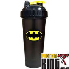 BATMAN PERFECT SHAKER HERO 800ML BOTTLE CUP MIXER PROTEIN BLENDER GYM SPORTS