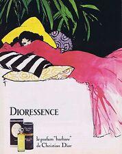 "PUBLICITE ADVERTISING 114 1979 CHRISTIAN DIOR ""Dioressence"" René Gruau"
