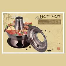 Copper Color Stainless Steel Traditional Old Beijing Chinese Hot Pot Large