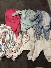 7 First Size Newborn Sleepsuits Next Asda Nutmeg Bundle Baby Girls