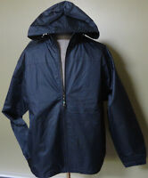 MEN'S Windbreaker Raincoat Hooded Navy & Black NWT Mesh Lined $60 Sizes M L XL