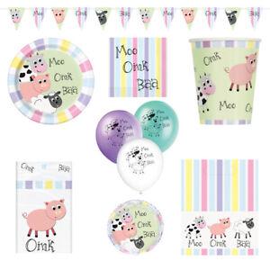 Farmyard Birthday Party Supplies Tableware Decorations Balloons Cow Pig Sheep