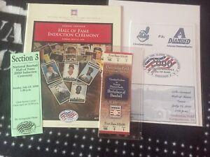 2000 Baseball Hall of Fame Game Scorecard/ Ticket, Induction Program/ Ticket
