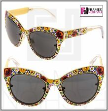 Dolce & Gabbana Full Mosaico 2136 Cat Eye Gold Limited Catwalk Sunglasses DG2136