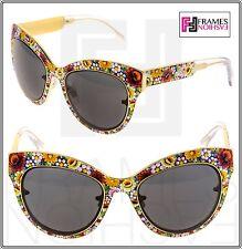 Dolce & Gabbana Full Mosaico 2136 Cat Eye Gold Limited Catwalk Sunglasses DG2136