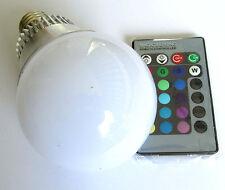 5W Lampada LED E27 RGB CROMOTERAPIA faretto bulbo G4 gu10 lampadina telecomando