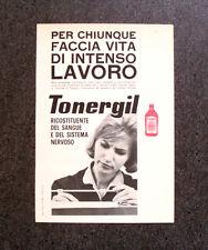 M364 - Advertising Pubblicità - 1960 - TONERGIL ERBA , RICOSTITUENTE