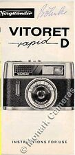 Voigtlander Vitoret D Rapid Camera Instruction Leaflet. More Manuals Listed