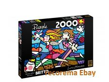 ROMERO BRITTO LOVE BLOSSOM PUZZLE 2000 PIECES  (SIZE: 3.2 FT x 2.3 FT)