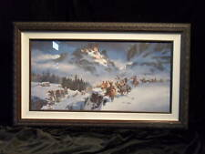 MAHER MARCOS INDIAN PAINTING SIGNED FRAMED
