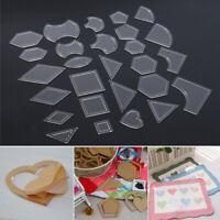54pcs/set Acrylic Ruler Quilt Patchwork Template Quilting Sewing DIY Tool Craft