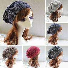 Mens Womens Baggy Beanie Warm Knitted Crochet Skull Ski Hat Slouch Cap Oversized