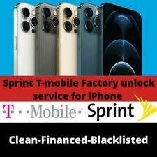 T-mobile Sprint USA iPhone Unlock Service 12 12 Pro 12 Pro Max 12 Mini All imei