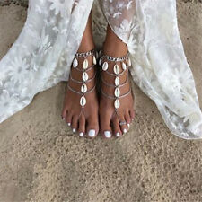 Bridal Barefoot Sandals Shell Wedding foot Shoes Boho Bohemian Beach Party Dance