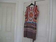 Ladies Dress or Long Top  Design Ed-it-ed   Plus Size 18 Orange with Diff Colour