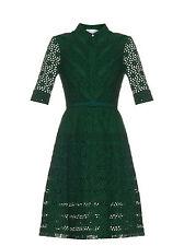 NWT $3.5K Oscar De La Renta Broderie-anglaise A-line shirtdress, size 6
