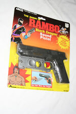 1985 ARCO Rambo Black Dragon Sound Pistol Roleplay Toy