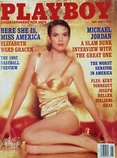 Playboy Adult Mens Magazine May 1992 Miss America Elizabeth Grace Michael Jordan