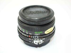 Vivitar 28mm f2.8 Wide Angle Lens for Nikon Manual Focus Cameras