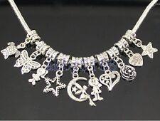 Wholesale 100 Tibetan Silver Mix Bulk Lots Dangle Charms Fit Bracelet ZN01