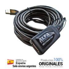 🔥🔥🔥 Cable USB alargador 10 metros 10m Alfa Network activo sin perdidas señal
