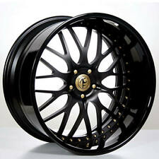 "4ea 19"" Staggered AC Forged Wheels Rims 313 BK/Gold 3 pcs (S1)"