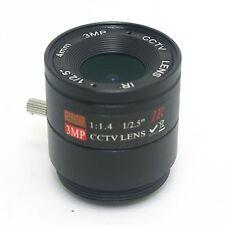 """HD 1/2.5""""  F1.4 3.0 Mega pixels 4mm Security Lens for HD/IR CCTV cameras"""