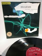 RARE SWISS ONLY SCHURICHT FULL STEREO BRAHMS SYMPHONY NO 4 LP Turicaphon nm-