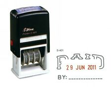 SHINY SELF INK DATER PAID & DATE RUBBER STAMP RECEIVED POSTED EMAILED APPROVED