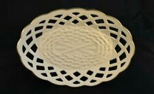 Lenox Wicker Ivory With 24K Gold Trim Candy Dish - Vintage - Mint Condition