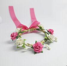 Handmade Long Big Ribbon Flower Crown Headband Hair Accessory For Barbie Doll #3