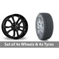 """4 x 20"""" Wolfrace Assassin Black Alloy Wheel Rims and Tyres -  275/40/20"""