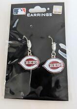 Cincinnati Reds MLB Crystal Dangle Earrings, Baseball Jewelry