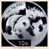 Frosty Gem 2008 1 Oz Chinese Silver Panda Coin .999 Pure 10 yuan