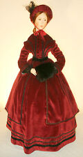 """For 24"""" Lady Marion Doll 1850 Victorian Winter DressCoat Sewing Pattern # 21-24"""