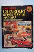 Chilton's Chevrolet Repair Manual 1980-1987 Paperback #7772