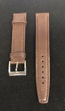 Authentic Gucci Brown Soft Leather Watch Band 17mm