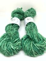 Banana yarn. 200g, vegan friendly, super green. Pearly. Chunky yarn
