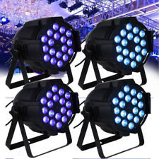 4X DJ PAR LED LIGHT 18x8w RGBW 4in1 DMX 180 watt Stage Wedding Party Show Xmas