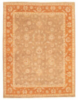 """Hand-knotted Carpet 8'0"""" x 10'6"""" Bordered, Floral, Traditional Wool Rug"""