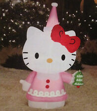 3.5 Hello Kitty Light Up Holiday Airblown Inflatable - Gemmy Yard Decor Tree