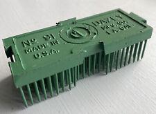 Vintage Dazey Mfg Co Needle Sharp Pin Spike Rectangular Flower Frog Arranger 91