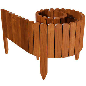 10/20/30CM Wooden Fence Garden Grass Edge Fence Wall Roll Garden Fence