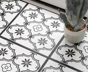 Self Adhesive Vinyl Floor Tiles Ornamental vinyl 1sqm KITCHEN BATHROOM - D-C-Fix
