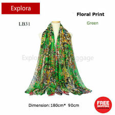Ladies Fashion Accessary Colorful Floral Scarf Wrap Shawl 180cm*90cm  - Green