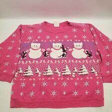 Vintage Scoop of Spumoni Spectravest Medium Sweatshirt Cats Winter Christmas