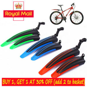 2PC Bicycle Mountain Bike Front/Rear Mudguard Fenders Wings Bike Parts