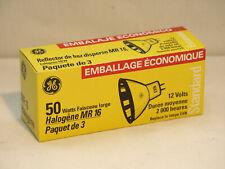 GE EXN Halogen Bulb 3-Pack 12V 50W MR16