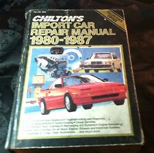 Chilton's Import Car Manual 1980 to 1987 #7672 Models imported to U.S. & Canada