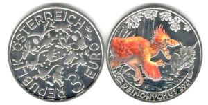 3 Euro Gedenkmünze Österreich 2021 Deinonychus